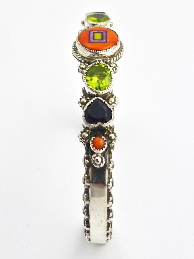 Orange Spiney Oyster Sabre Wing Oval Flower Bracelet