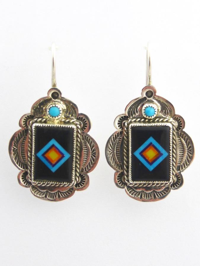 Coronet Sabre Wing Rectangle Earrings