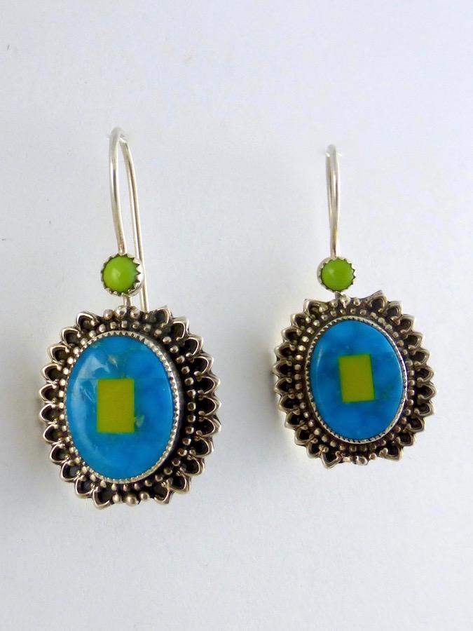 Mosaic Oval Earrings