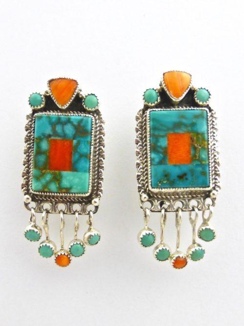 Mosaic Rectangle Earrings