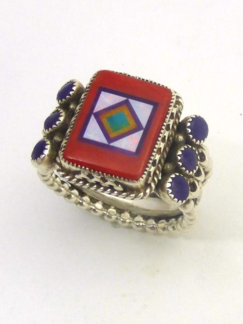 RED-CORAL-CORONET-SABRE-WING-RECTANGLE-RING