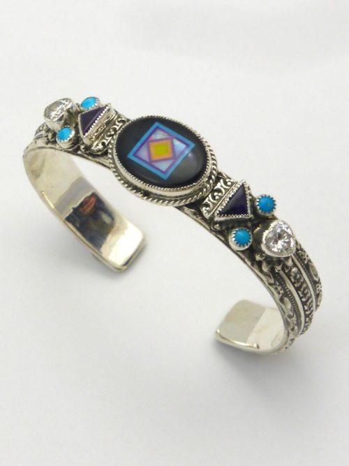 Blossomcrown Oval Cuff Bracelet