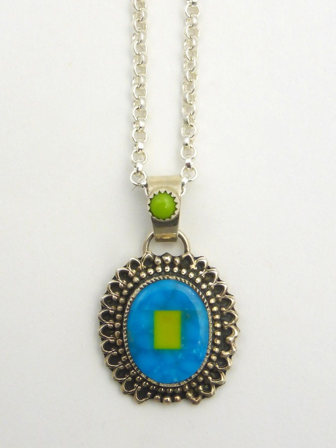 Mosaic Oval Necklace