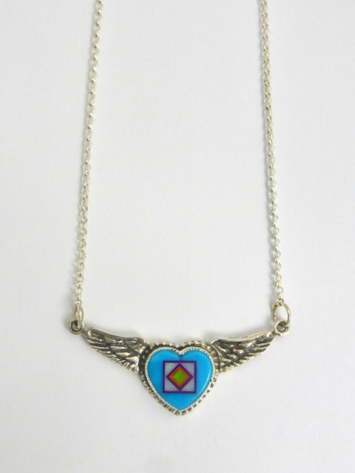 Turquoise Angel Heart Necklace