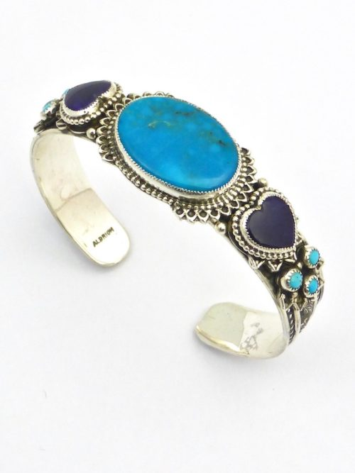 Turquoise Morningstar Oval Cuff Bracelet