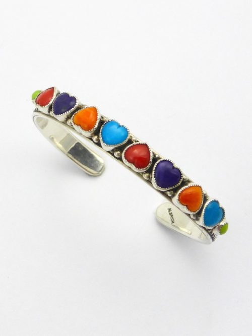 Heart to Heart Multi Color Cuff Bracelet