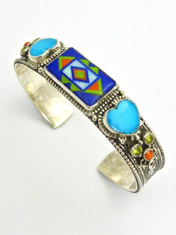 Lapis Sunangel Rectangle Cuff Bracelet
