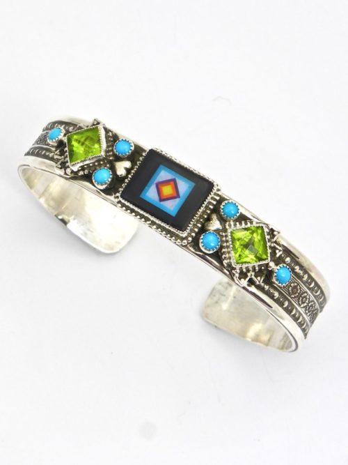 Jet Blossomcrown Rectangle Cuff Bracelet