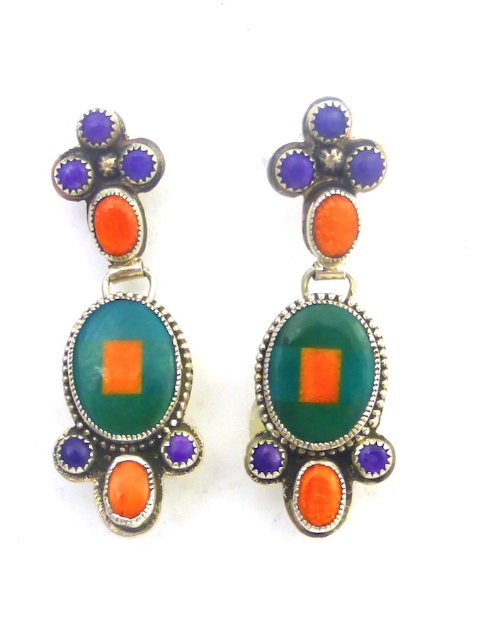 ORANGE-SPINRY-OYSTER-MOSAIC-TIER-EARRINGS