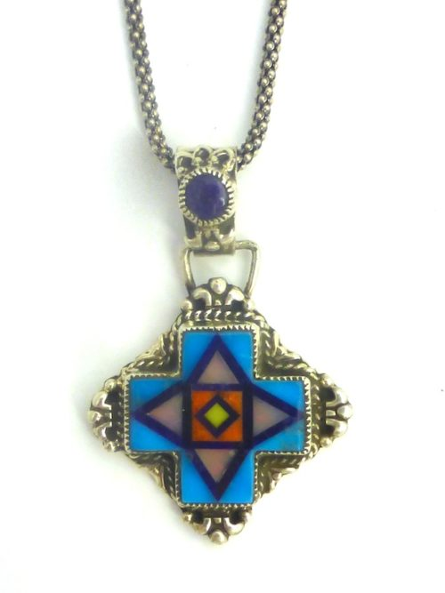 TURQUOISE-SUNANGEL-CROSS_NECKLACE