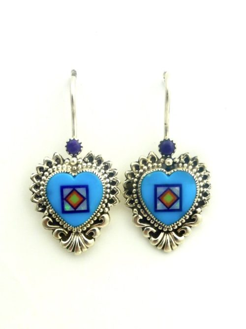 TURQUOISE-CORONET-SABRE-WING-HEART-EARRINGS
