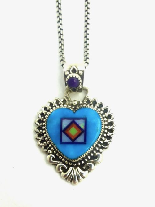 TURQUOISE-CORONET-SABRE-WING-HEART-NECKLACE