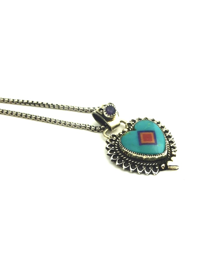 GREEN-TURQUOISE-CORONET-SABRE-WING-HEART-NECKLACE