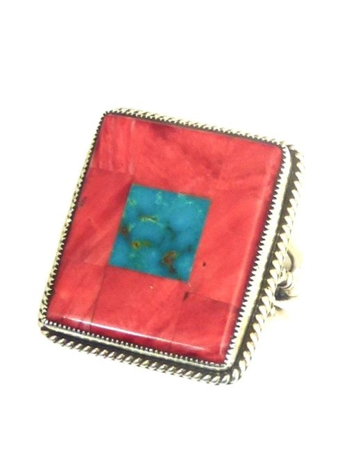 OJ-SPINEY-TURQUOISE-MOSAIC-RECTANGLE-RING