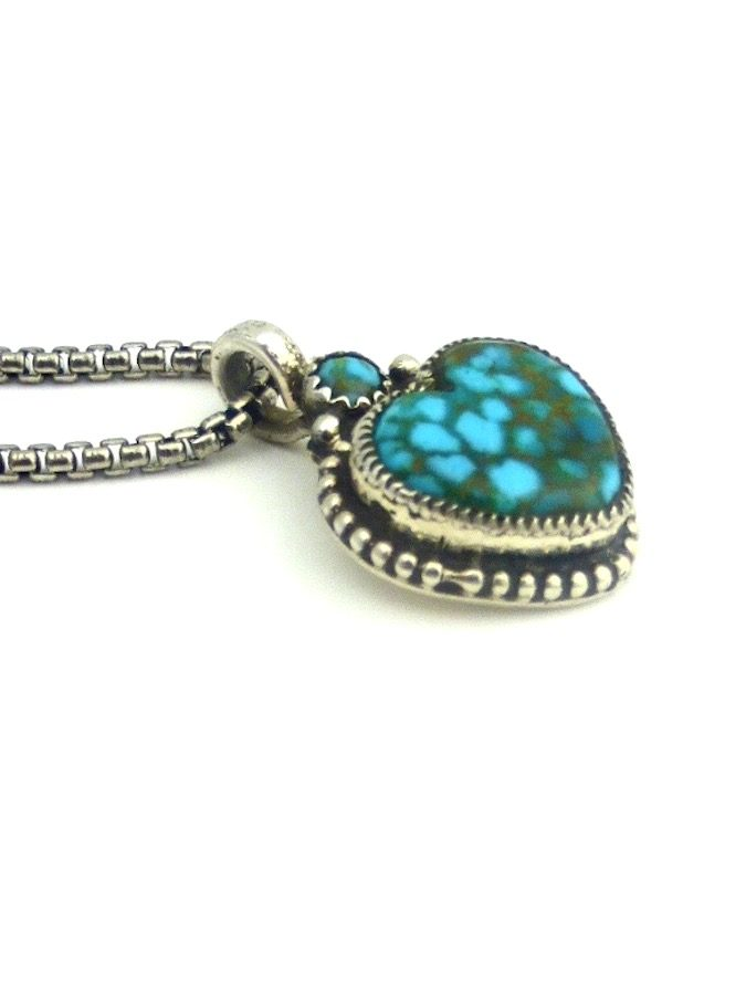 POLYCHROME-TURQUOISE-MORNINGSTAR-HEART-NECKLACE