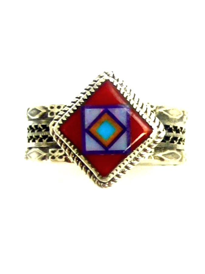 RED-CORAL-CORONET-BLOSSOMCROWN-DIAMOND-RING