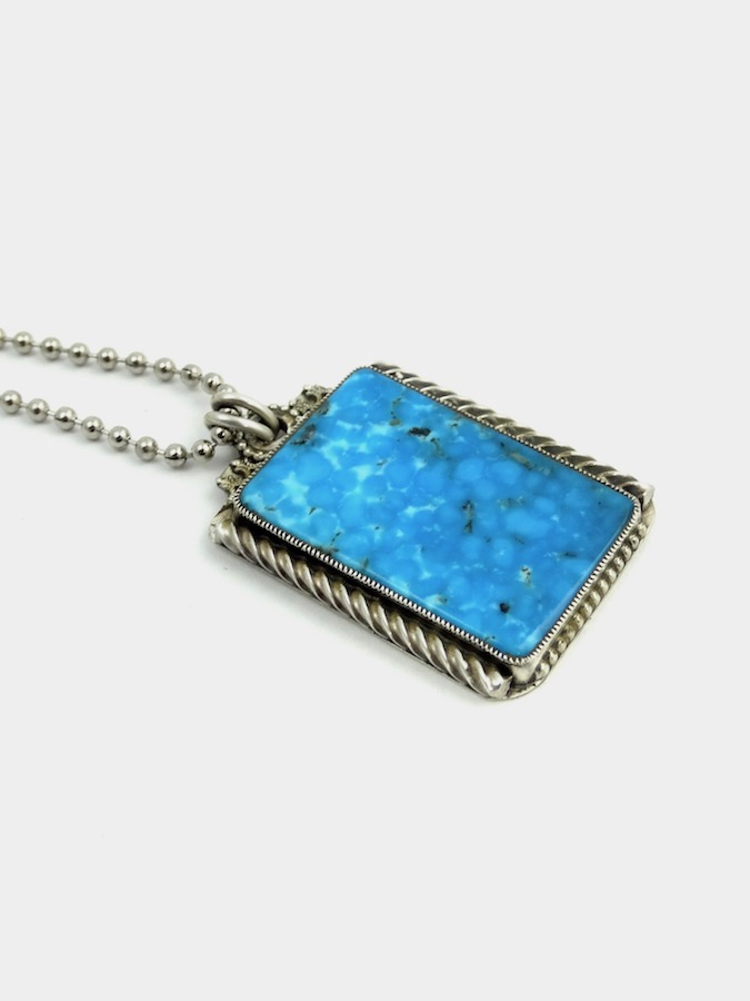 POLYCHROME-TURQUOISE-CODE-TALKER-DOG-TAG-NECKLACE