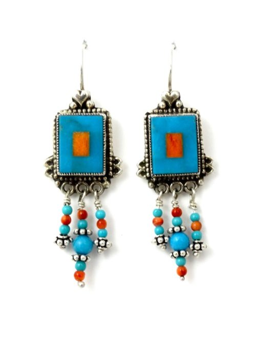 TURQUOISE-MOSAIC-RECTANGLE-EARRINGS-wDANGLES