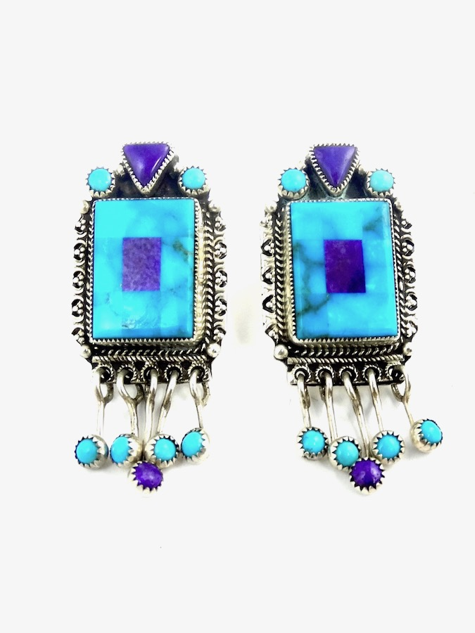 TURQUOISE-MOSAIC-RECTANGLE-EARRINGS
