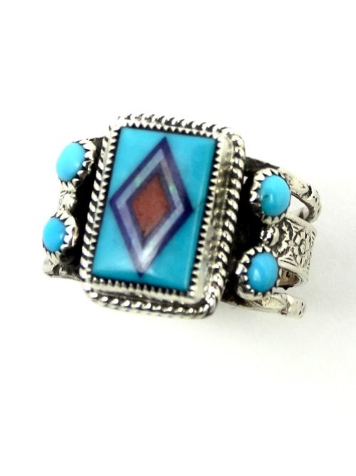 TURQUOISE-AVOCET-RECTANGLE-RING
