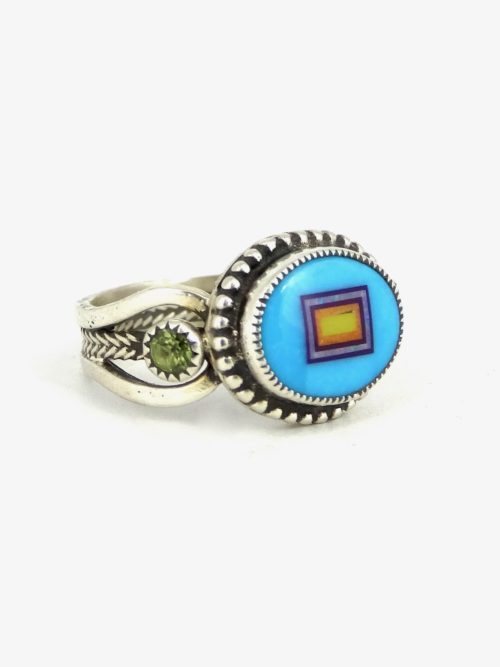 TURQUOISE-SABREWING-OVAL-RING