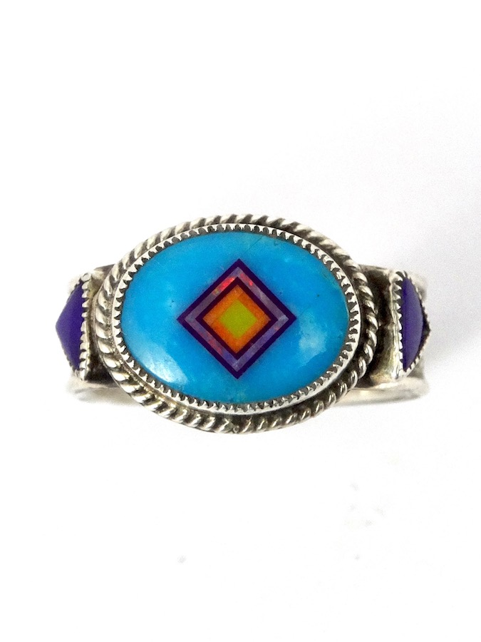 TURQUOISE-CORONET-SABREWING-OVAL-RING