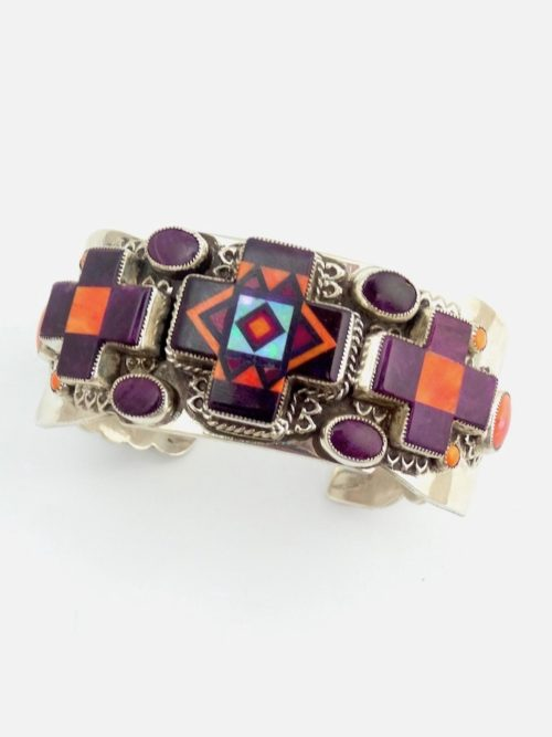 PURPLE-OYSTER-SUNANGEL-THREE-CROSS-BRACELET