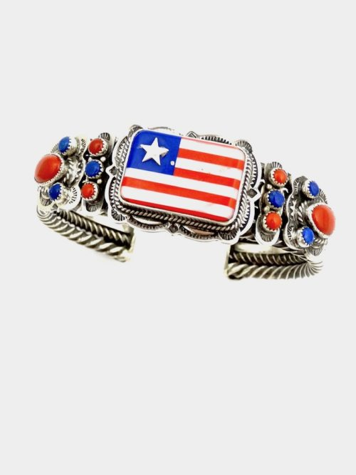PATRIOT-INLAID-FLAG-Cuff-BRACELET