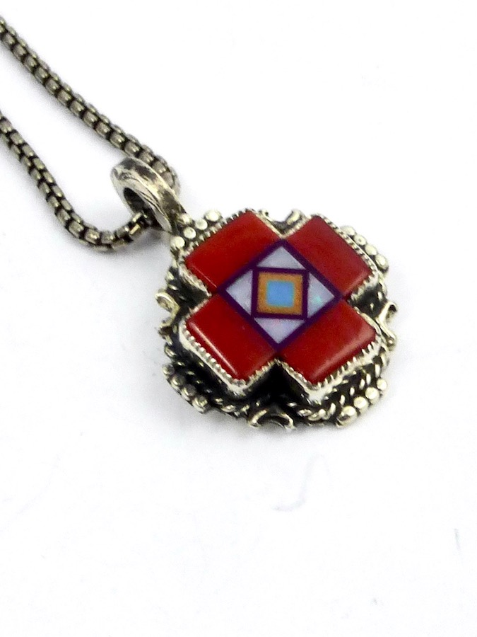 RED-CORAL-BLOSSOMCROWN-CROSS-NECKLACE