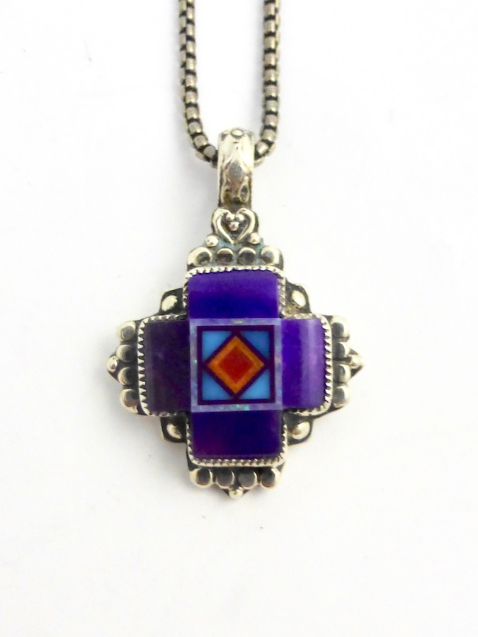 SUGILITE-BLOSSOMCROWN-CROSS-NECKLACE