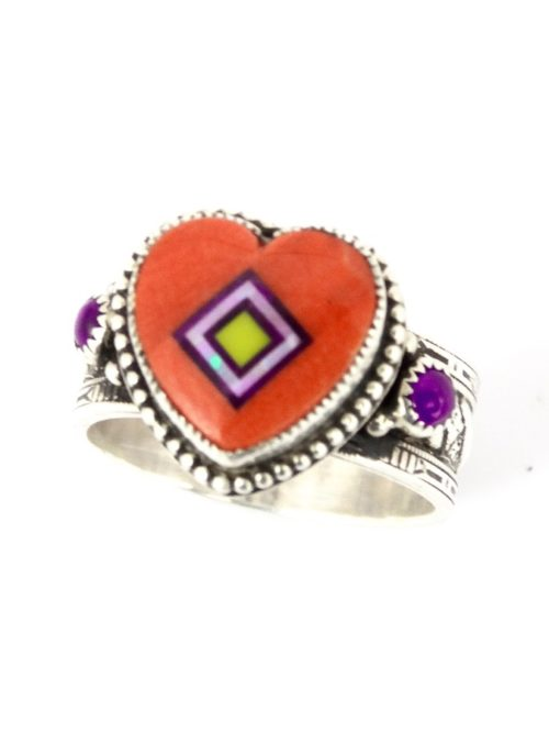 ORANGE-SPINEY-OYSTER-CORONET-SABREWING-HEART-RING
