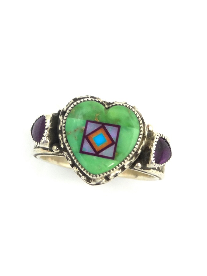CARICO-LAKE-TURQUOISE-BLOSSOMCROWN-HEART-RING