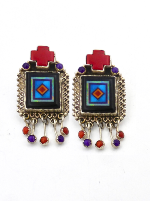 JET-RED-CORAL-RECTANGLE-EARRINGS
