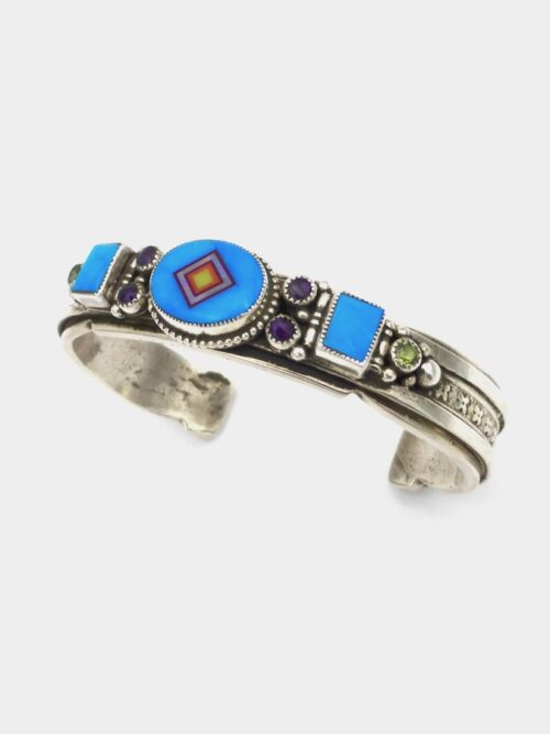 Turquoise-Coronet-Sabre-Wing-Oval-Bracelet