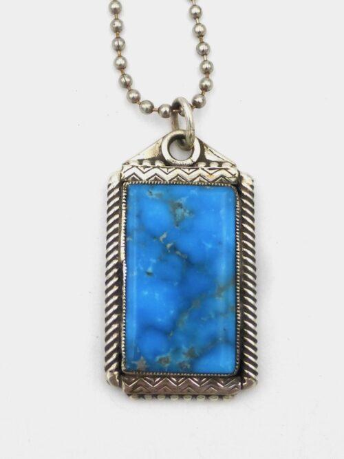 Kingman-Turquoise-Code-Talker-Necklace