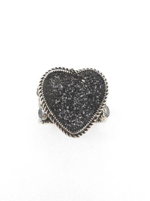 Druzy-Charcoal-Heart-ring