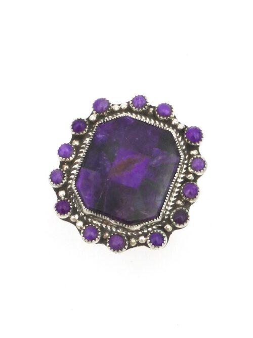Sugilite-Mosaic-Rectangle-Ring