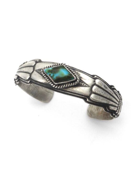 Royston-Turquoise-Diamond-Sterling-Silver-Cuff