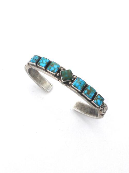 PolyChrome-Turquoise-Seven-Square-Bracelet