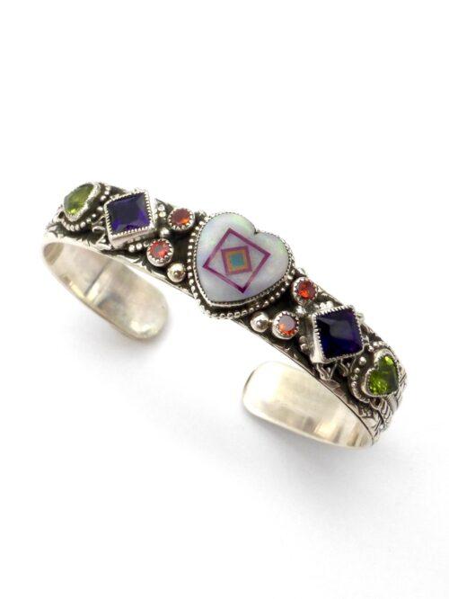 Opal-Inlaid-Coronet-Blossomcrown-Bracelet