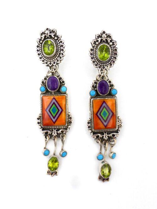 Orange-Spiny-Shell-Santa-Marta-EarringsOrange-Spiny-Shell-Santa-Marta-Earrings