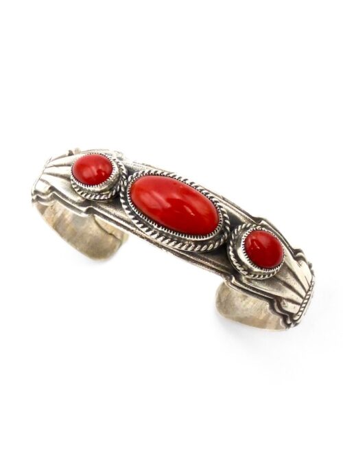 red-coral-oval-cast-cuff